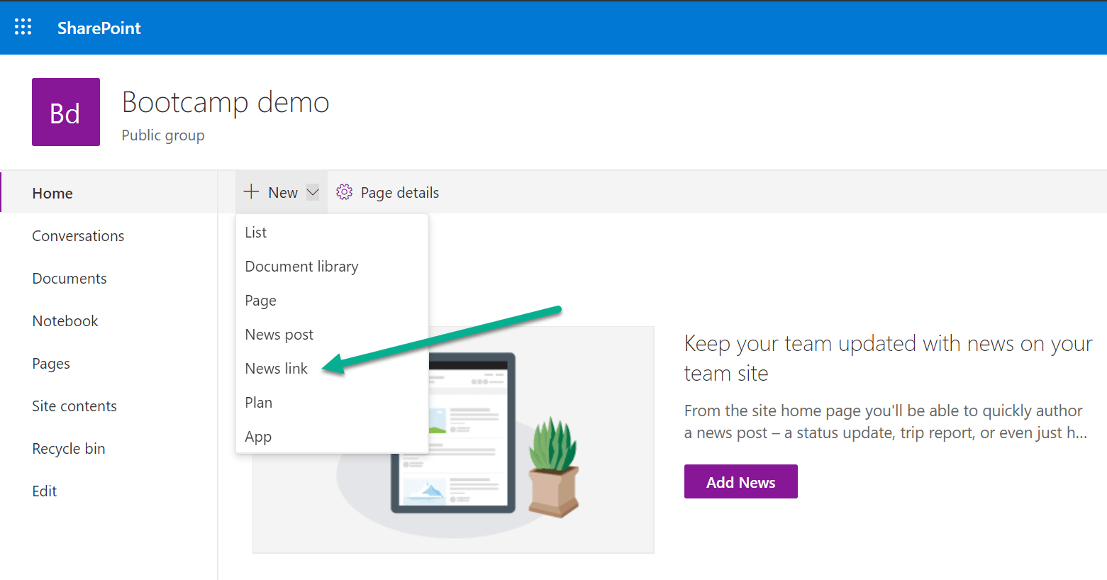 No-code modern SharePoint site redirect